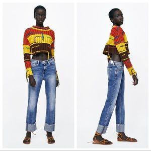 NWT. Zara Straight Leg Jeans. Size 2,6.